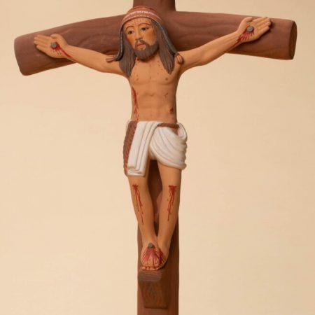 Ceramic Crucifix 12H